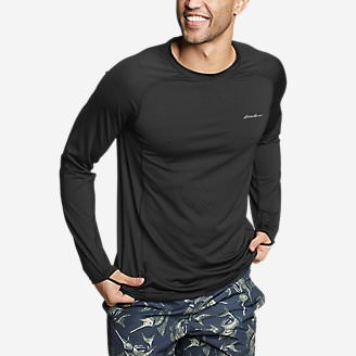 Men's Amphib Long-Sleeve Sun T-Shirt in Black