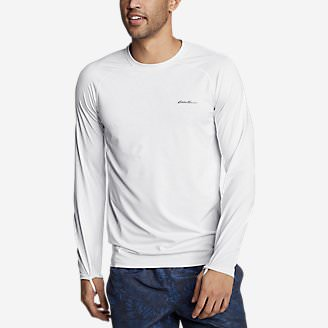 Men's Amphib Long-Sleeve Sun T-Shirt in White