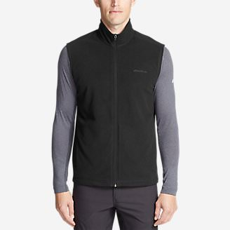Men's Quest Fleece Vest in Black