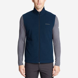 Men's Quest Fleece Vest in Blue