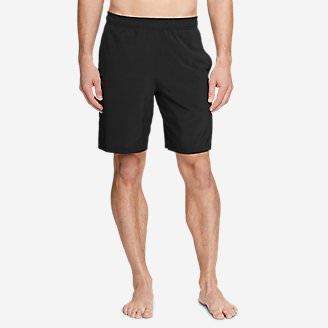 Men's Meridian Pro 9' Shorts w/ Compression Liner in Black
