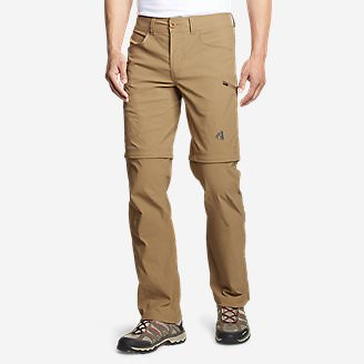 Men's Guide Pro Convertible Pants in Brown