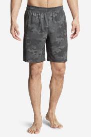 Men's Meridian Unlined Shorts - Patterned in Black