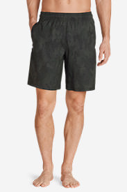 Men's Meridian Unlined Shorts - Patterned in Gray