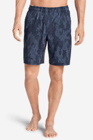 Men's Meridian Unlined Shorts - Patterned in Blue