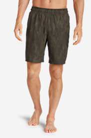 Men's Meridian Unlined Shorts - Patterned in Green