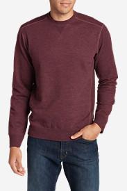 Men's Camp Fleece Crew Sweatshirt in Red