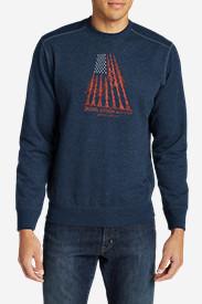 Men's Camp Fleece Graphic Crew in Blue