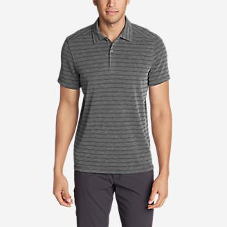Men's Contour Short-Sleeve Polo Shirt - Stripe in Gray