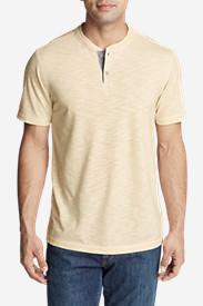 Men's Ferox Short-Sleeve Henley Shirt - Textured in White