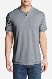 Men's Ferox Short-Sleeve Henley Shirt - Textured in Gray