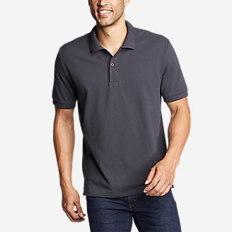 Men's Classic Field Pro Short-Sleeve Polo Shirt in Blue