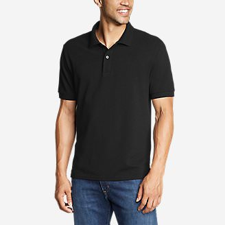 Men's Classic Field Pro Short-Sleeve Polo Shirt in Black