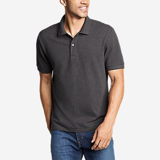 Men's Classic Field Pro Short-Sleeve Polo Shirt in Gray