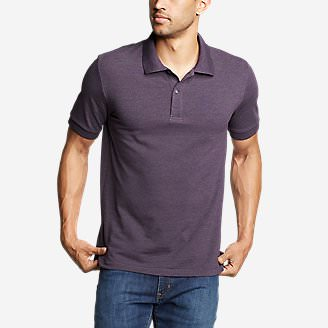 Men's Classic Field Pro Short-Sleeve Polo Shirt in Purple