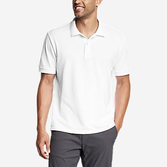Men's Classic Field Pro Short-Sleeve Polo Shirt in White
