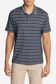 Men's Voyager 2.0 Short-Sleeve Polo Shirt - Relaxed Fit, Stripe in Blue