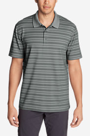 Men's Voyager 2.0 Short-Sleeve Polo Shirt - Relaxed Fit, Stripe in Gray