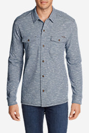 Men's Basin Button-Down Long-Sleeve Shirt in Blue
