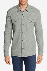 Men's Basin Button-Down Long-Sleeve Shirt in Gray