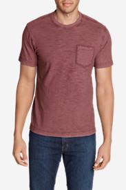 Men's Legend Wash Short-Sleeve Slub Pocket T-Shirt in Brown