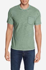 Men's Legend Wash Short-Sleeve Slub Pocket T-Shirt in Blue