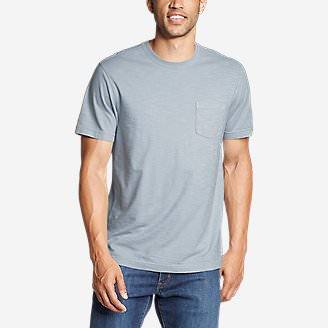 5866ab8e77 Men's Legend Wash Short-Sleeve Slub Pocket T-Shirt in Blue