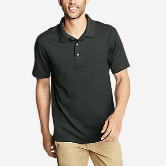 Men's Voyager 2.0 Short-Sleeve Polo Shirt - Classic Fit, Solid in Black