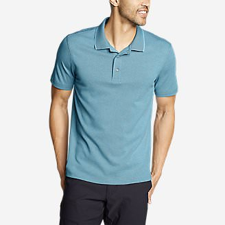 Men's Voyager 2.0 Short-Sleeve Polo Shirt - Classic Fit, Solid in Blue