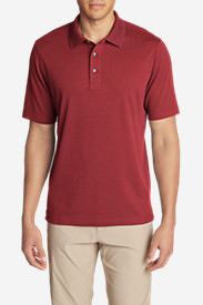 Men's Voyager 2.0 Short-Sleeve Polo Shirt - Classic Fit, Solid in Red