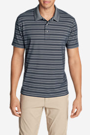 Men's Voyager 2.0 Short-Sleeve Polo Shirt - Classic Fit, Stripe in Blue