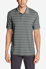 Men's Voyager 2.0 Short-Sleeve Polo Shirt - Classic Fit, Stripe in Gray
