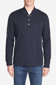 Men's Sherpa-Lined Thermal Henley in Blue