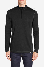 Men's Voyager Long-Sleeve 1/4-Zip Pullover in Black