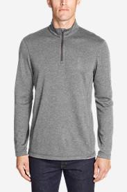Men's Voyager Long-Sleeve 1/4-Zip Pullover in Gray