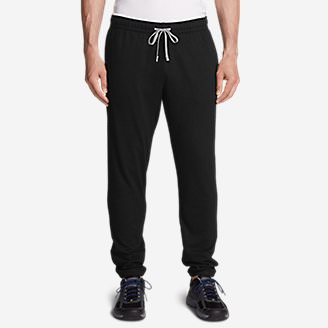 Men's Camp Fleece Jogger Pants in Black