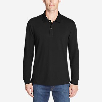 Men's Classic Field Pro Long-Sleeve Polo in Black