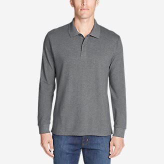 Men's Classic Field Pro Long-Sleeve Polo in Gray