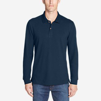 Men's Classic Field Pro Long-Sleeve Polo in Blue