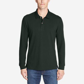 Men's Classic Field Pro Long-Sleeve Polo in Green