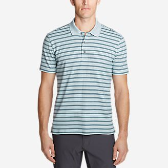 Men's Voyager 2.0 Short-Sleeve Polo Shirt - Stripe in Blue