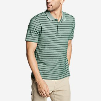 Men's Voyager 2.0 Short-Sleeve Polo Shirt - Stripe in Green