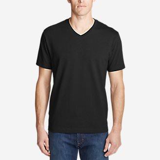 Men's Legend Wash Pro Short-Sleeve V-Neck T-Shirt in Black