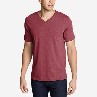 Men's Legend Wash Pro Short-Sleeve V-Neck T-Shirt in Red