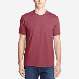 Men's Legend Wash Pro Short-Sleeve Pocket T-Shirt in Red