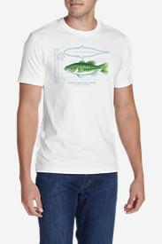 Men's Graphic T-Shirt - Largemouth Bass in White