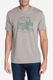 Men's Graphic T-Shirt - Explore Kayak in Gray
