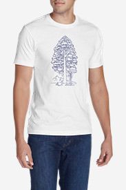Men's Graphic T-Shirt - Big Trees in White