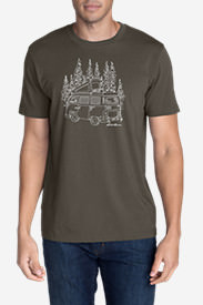 Men's Graphic T-Shirt - Wagon Camp in Gray