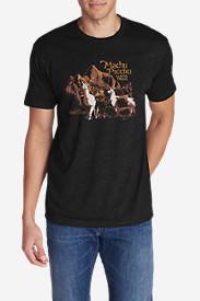 Men's Graphic T-Shirt - Machu Picchu in Black